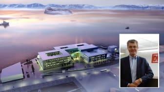 Nye Hammerfest Sykehus skal bli et topp moderne sykehus med de beste løsninger for ansatte, pasienter og pårørende. Foto: Sykehusbygg