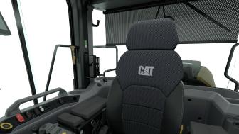 Cat 982 Interiör, säte