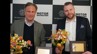 Scania med vd David Källsäter vinnar på lastbilssidan och Isuzu med vd Per Håkansson står som segrare i GA-enkäten personbilar