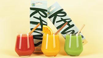 Utmärkta sugrör som även blir en vacker dekoration i drinken.