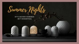 Die Phi Lights bestechen durch ihre Eleganz und schaffen eine besondere Lichtstimmung an lauen Sommerabenden..