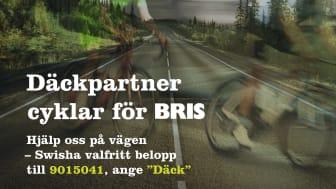 """Däckpartner uppmanar att Swisha valfritt belopp till BRIS. Nummer:  9015041 - ange """"däck"""""""