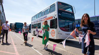 Home-Start Oxfordshire branded bus launched by Oxford Bus Company