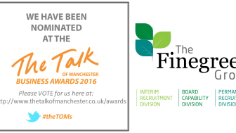 Finegreen shortlisted for Recruitment Company of the Year the Talk of Manchester Awards 2016! Vote now!