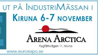 Besök oss på Euroexpo i Kiruna 6-7 november!