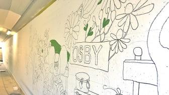 Stor tunnelmålning tar form i Osby