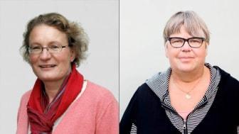 Eva Borgström, intressepolitisk samordnare, och Lillemor Holgersson, första vice ordförande