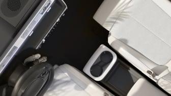 Revolutionerande Living Space-interiör med flyttbar mittkonsol i nya IONIQ 5.