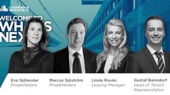 Cushman & Wakefield rekryterar tre och befordrar  Gustaf Benndorf till Head of Tenant Representation.