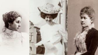 Syskonen von Hallwyls liv skildras in nya boken Systrarna von Hallwyl - Irma von Geijer, Ellen  Roosval och Ebba von Eckermann.