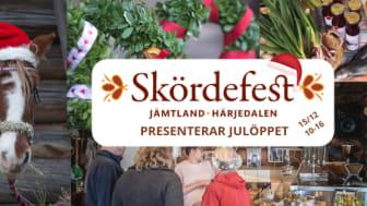 Skördefest presenterar Julöppet, 15 december, kl. 10-16