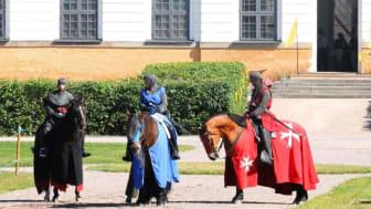 27-29 juli är det dags igen för årets riddardagar med tornerspel och medeltidsmarknad på Skoklosters slott.