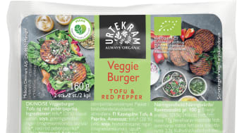 Urtekram Veggie Burger Tofu & Red Pepper