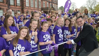 DJ Kev Seed joins survivors to take a Step Out for Stroke in Liverpool