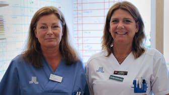Samordnande undersköterskorna Monica Bjällstedt och Ankie Drotz på Norrtälje sjukhus.