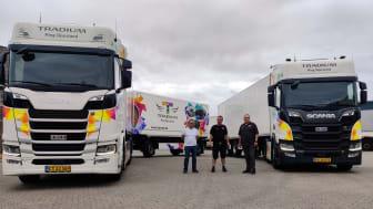 Kørelærerne på Tradium står klar til at give køreundervisning i vogntog i begge kombinationer (foto: Kasper Schøler).