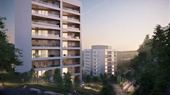 Skanska bygger 80 lägenheter åt HSB i Göteborg.