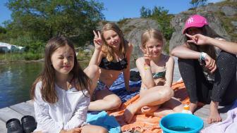 Stephanie, Lilja, Ebba och Hiba