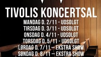 D-A-D: Udsolgt i Tivolis Koncertsal, annoncerer yderligere to koncerter