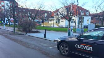 CLEVERs nya laddstationer i Åstorp