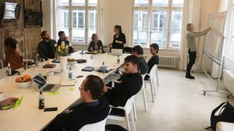 Workshop under startup-resa för entreprenörer, arrangerad av Science Park och Beglobal.nu, våren 2017.