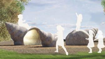 Form och fantasi är temat för utflyktslekplatsen som ska byggas i Jubileumsparken.