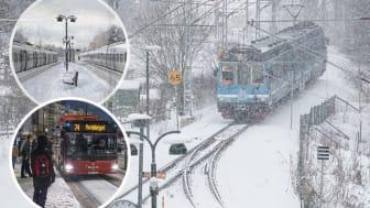 Så planerar SL inför vintertrafiken