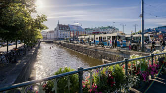 Vy från Drottningstorgsbron i Göteborg. Foto: Anders Wester/Göteborg & Co