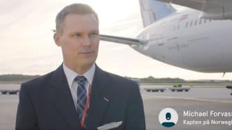 Michael Forvass, kapten på Norwegians Boeing 787 Dreamlinerplan