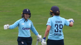 Beaumont and Sciver put on 119 for the third wicket. Photo: Getty Images