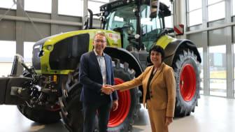 Hans-Christian Ripa, VD Swedish Agro Machinery samt Elke Pankow, Exportchef Rauch.