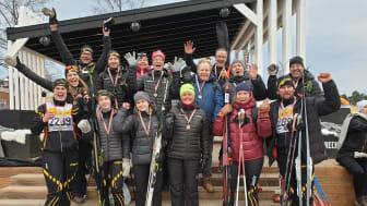 En lyckad hälsosatsning av Engcon - succé för Team Engcon i årets Vasaloppsspår