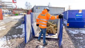 """Peab återvinner ROCKWOOL stenull vid bygget av Nya Färjestadsskolan """"Noll procent avfall till deponi"""""""