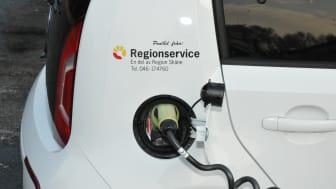 En av bilarna i Region Skånes bilpool. (Foto: Regionservice kommunikationsavdelning)