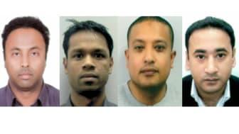L-R Mohammed Sharrif Udin, Sadiqur Rahman, Abdul Kamal and Mizanur Rahman