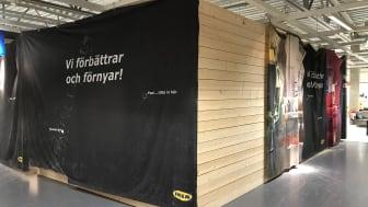 Här snickras det på BoKlok-tvåan inne på IKEA Västerås