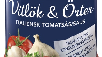 Barilla lanserar pastasås med Vitlök & Örter.