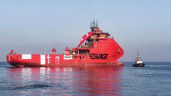 H-053 kort tid efter søsætningen fra Cemre Shipyard.