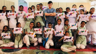 Students from our educational activities in NVP India.