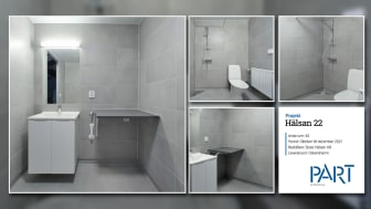 Part levererar 45 badrum till projektet Hälsan 22 i Oskarhamn.