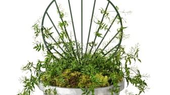 Floral trellis, design Mia Cullin. Folke Planter, design Karna Lindstedt.