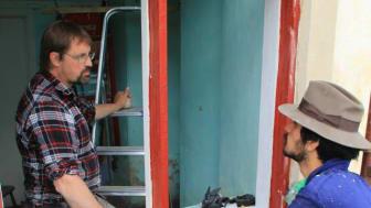 Fönsterrenovering på byggnadsvårdsläger