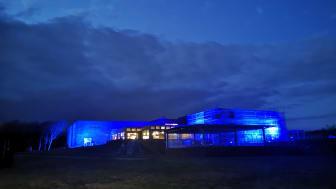 Lys i mørket - Fiskeri- og Søfartsmuseets facade