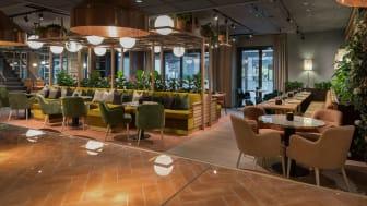 I hotellets første etasje ligger den nye à la carte restauranten Skabos Hage.