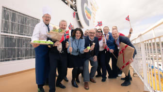 Klart for en million iskremserveringer til sjøs: Hennig-Olsen Is inntar Color Line