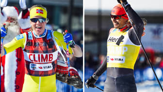 Astrid Øyre Slind ja Andreas Nygaard hiihtivät Visma Nordic Trophyn voittoon.