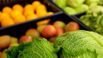 Kålhoveder og frugt