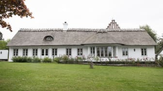 Årets Bevaringspris 2021 går til huset på Henrik Gerners Vej 8, 3460 Birkerød. Fotograf: Gyrithe Lemche.