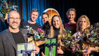 Glada prisvinnare i kategorin miljö. Foto: Peter Malmqvist.