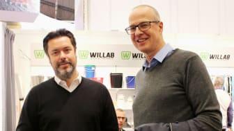 Niclas Arnelin, vd på Willab och Lars Niska, Fenciflex på Lantbruksmässan Elmia i Jönköping